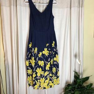 Lands' End Floral Midi Dress